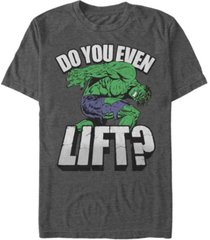 marvel men's comic collection hulk do you even lift short sleeve t-shirt