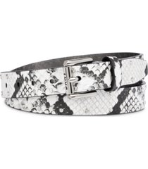 dkny studded snake-embossed belt