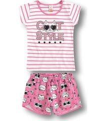 pijama marisol - 10316213i rosa - kanui