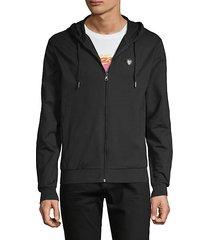 logo cotton hooded sweatshirt