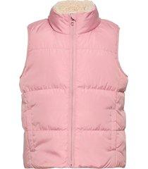 down warmest vest gevoerd vest roze gap