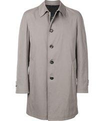 dell'oglio straight-fit buttoned coat - neutrals