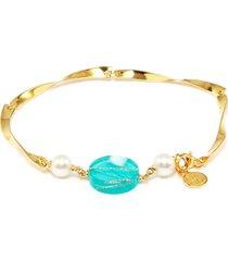 'dixter' freshwater pearl resin station link bracelet