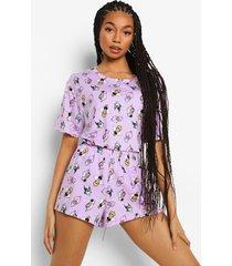 mix & match disney slechteriken pyjama top, lilac