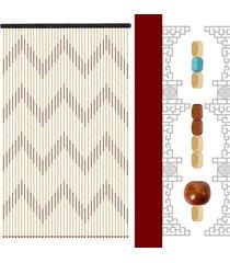 90 * 200 cm 41line madera pantalla cortina del grano de la mosca porche dormitorio salón baño - marrón