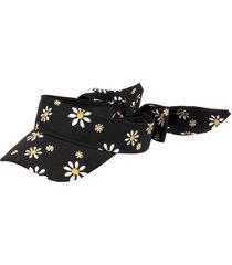 women's kate spade new york daisy bow back visor - black