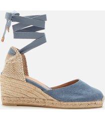castañer women's carina wedged espadrille sandals - jeans - uk 6