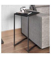 mesa para sala de estar artesano lateral mdp preto