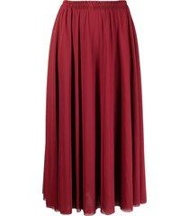 atu body couture gathered-waisted midi skirt