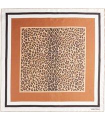 valentino garavani valentino leopard print silk scarf at nordstrom