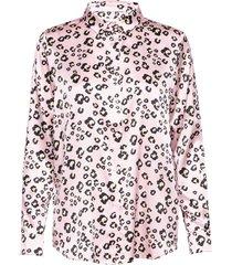 alicia blouse blus långärmad rosa by malina