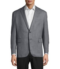 textured wool-blend jacket