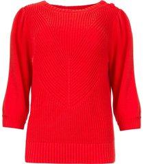 gebreide trui scotty  rood