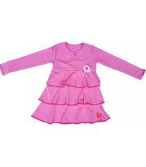 vestido rosa cante pido volados