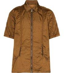 1017 alyx 9sm zip-up shirt - brown