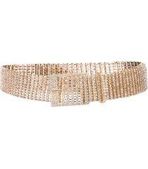 b-low the belt crystal embellished belt - gold