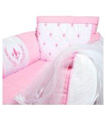 berço portátil padroeira baby provençal rosa