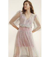 sukienka transparentna z podszyciem