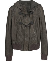 forzieri designer leather jackets, brown hooded leather jacket