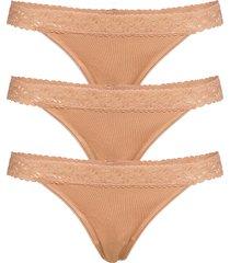 bea string 3 pack stringtrosa underkläder beige underprotection