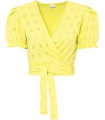 maglia a portafoglio (giallo) - bodyflirt