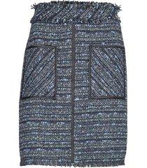 blue boucle skirt kort kjol blå karl lagerfeld