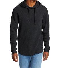 rag & bone men's caine ribbed pima cotton hoodie - charcoal - size xs