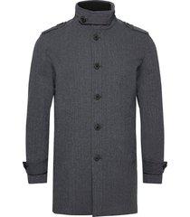 slhnoah cotton coat b trenchcoat lange jas grijs selected homme