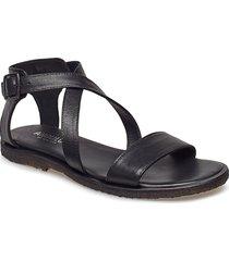 5442 shoes summer shoes flat sandals svart angulus