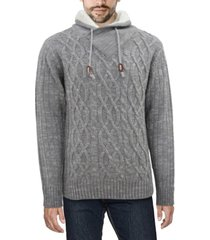 x-ray men's shawl collar sweater
