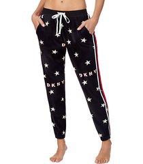 star-print pajama pants