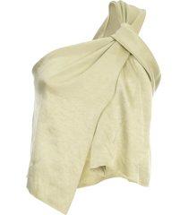 nanushka asymmetrci top single shoulder