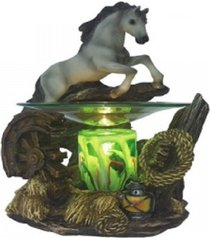 grey horse oil/tart warmer - compatible with scentsy and yankee candle wax