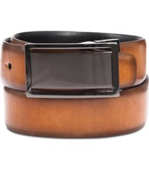 men's reversible textured alfani plaque belt, created for macy's