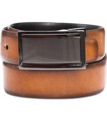 men's reversible textured alfani plaque belt, created for macy's