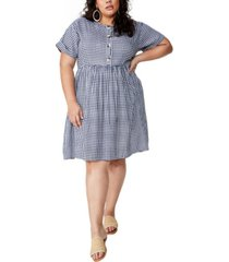 cotton on curve woven button front dress