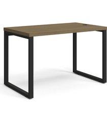 mesa secretária carvalho munique de madeira móveis kappesberg marrom