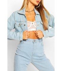 cropped jean jacket, light blue