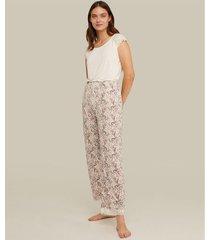 pijama camiseta manga corta encaje pantalón estampado encaje