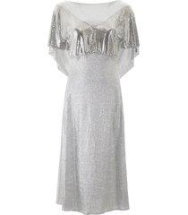paco rabanne lurex and chainmail midi dress