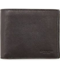 coach men's 3 in 1 sport calf wallet - black