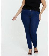 calça jeans biotipo plus size skinny feminina