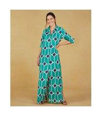 camisão feminino -camisão adri cor: turquesa, off white e azul estampado - tamanho: p
