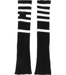 plan c striped arm warmers - black