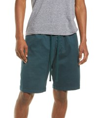carhartt work in progress men's lawton woven stretch drawstring shorts, size large in deep lagoon at nordstrom