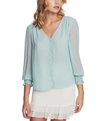 1.state smocked detail button-up top