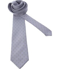 pierre cardin pre-owned rectangle print tie - grey