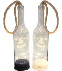 garrafa decorativa led le vidro 28cm unica