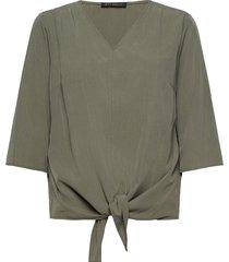 blouse short 3/4 sleeve blus långärmad grön betty barclay