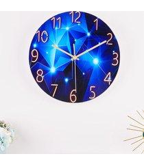 reloj de pared de 12 pulgadas de cristal de cuarzo silencioso universo espacio silencioso salón dormitorio - sky30 estrellada